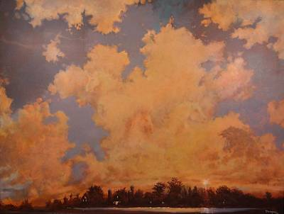 Cloud Formations Painting - Four Horses Of The Apocalypse by Tom Shropshire