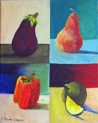 Pepper Painting - Four In One by Sandy Linden