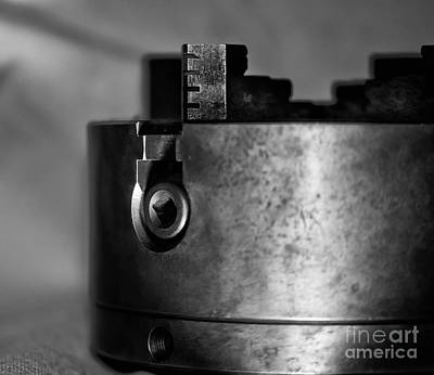 Photograph - Four Jaw Chuck Black And White by Wilma  Birdwell