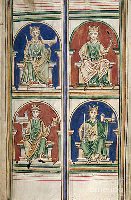 Four Kings Of England Art Print by British Library