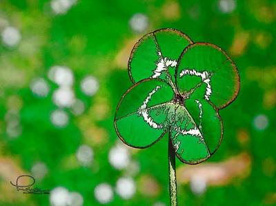Digital Art - Four Leaf Clover by Ludwig Keck