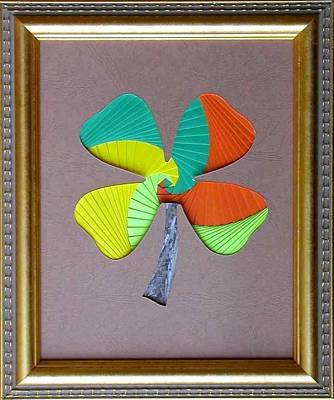 Mixed Media - Four Leaf Clover by Ron Davidson