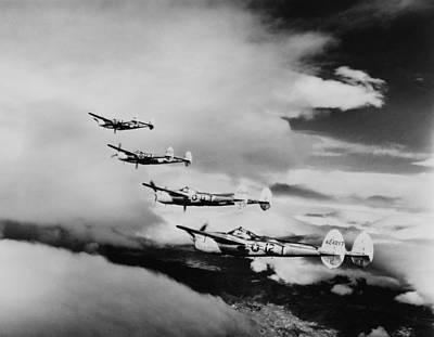 Four Lockheed P-38 Lightnings Art Print