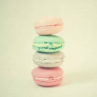Macaroons Photograph - Four Macarons by Cassia Beck