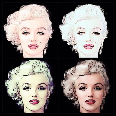 Digital Art - Four Marilyn Monroe 2 by Lisa Piper
