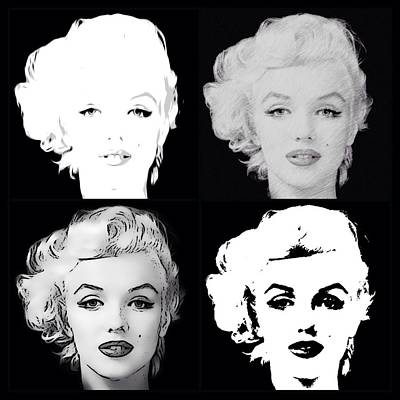 Digital Art - Four Marilyn Monroe 3 by Lisa Piper