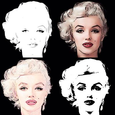 Mixed Media - Four Marilyn Monroe by Lisa Piper