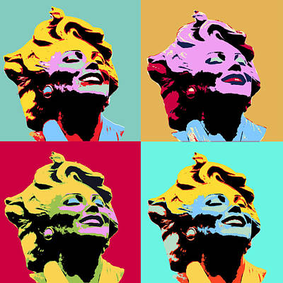 1960 Mixed Media - Four Marilyns by Dominic Piperata