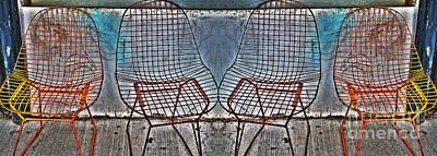 Photograph - Four Metal Chairs by Nina Silver