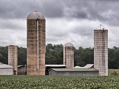 Photograph - Four Old Silos by Patrick M Lynch