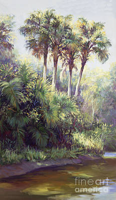 Wetlands Painting - Four Palm Plaza by Laurie Hein