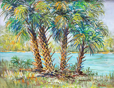 Painting - Four Palms by Lou Ann Bagnall