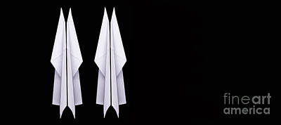 Photograph - Four Paper Airplanes #2 by Edward Fielding