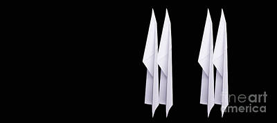Photograph - Four Paper Airplanes by Edward Fielding