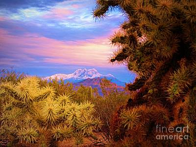 Photograph - Four Peaks Winter Sunrise by Mistys DesertSerenity