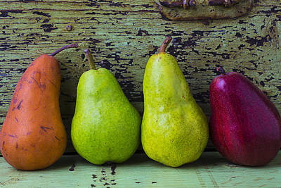 Chip Photograph - Four Pears by Garry Gay