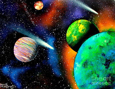 Painting - Four Planets E by Greg Moores