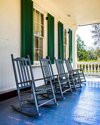 Rocking Chairs Photograph - Four Porch Rockers by Perry Webster