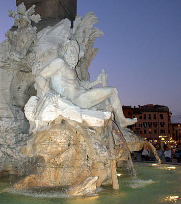 Photograph - Four Rivers Fountain In Rome by Caroline Stella