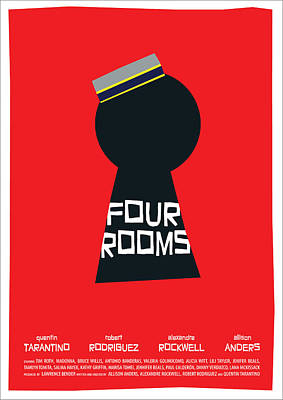 Four Rooms Poster Art Print by Geraldinez