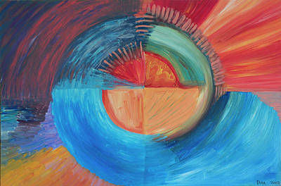 The Universe Painting - Four Sacred Directions 2002 by Drea Jensen