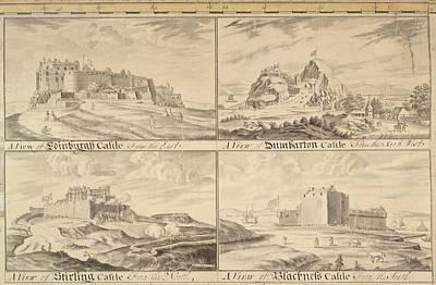 Edinburgh Castle Photograph - Four Scottish Castles by British Library