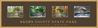 Brown County Indiana Photograph - Four Season Collage Horizontal by Dianna Wilson