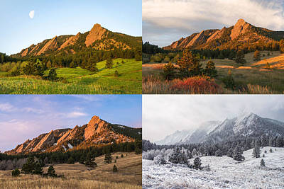 Photograph - Four Seasons - The Flatirons by Aaron Spong