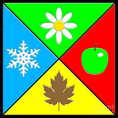 Digital Art - Four Seasons by Cristophers Dream Artistry