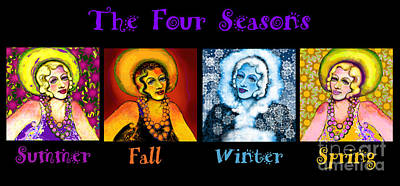 Four Seasons In A Row Art Print by Carol Jacobs