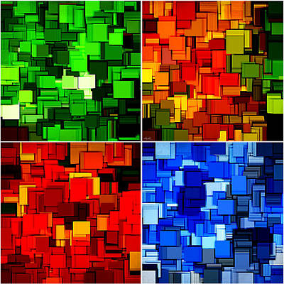 Pc Digital Art - Four Seasons In Abstract II by Lourry Legarde