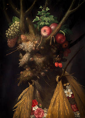 Grotesque Painting - Four Seasons In One Head by Mountain Dreams