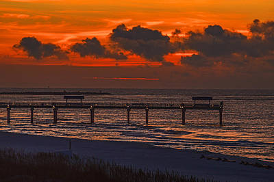 Digital Art - Four Seasons Pier Sunrise by Michael Thomas