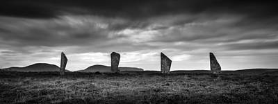Neolithic Photograph - Four Stones Of Brodgar by Dave Bowman