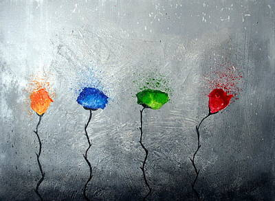 Four Times Flowering Art Print by Yannick Leniger