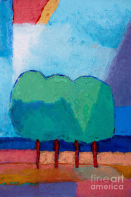 Baar Mixed Media - Four Trees by Lutz Baar