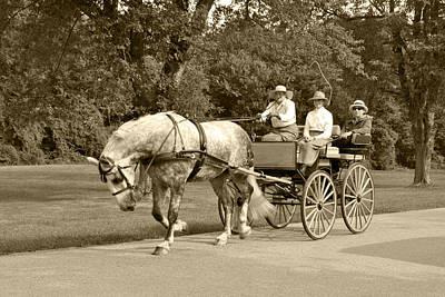 Four Wheel Cart Family Print by Wayne Sheeler