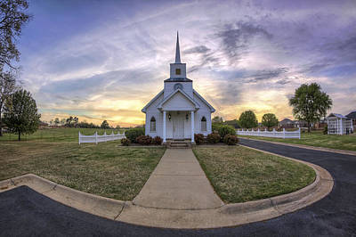 Photograph - Four Winds Chapel At Sunset - Arkansas - Conway by Jason Politte