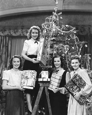 Photograph - Four Wives, From Left, Rosemary Lane by Everett