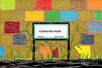 Fourah Bay Road Original by Mudiama Kammoh