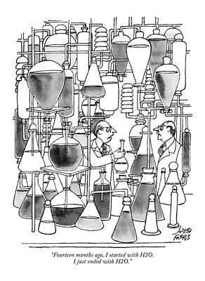 Professor Drawing - Fourteen Months Ago by Joseph Farris