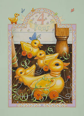Fourth Birthday Art Print