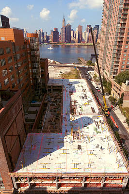 Photograph - Fourth Floor Slab by Steve Sahm