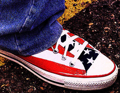 Converse Digital Art - Fourth Of July Connies by Ron Regalado