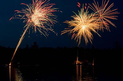 Photograph - Fourth Of July Fireworks by Barbara West