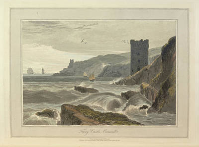 Fowey Castle Print by British Library