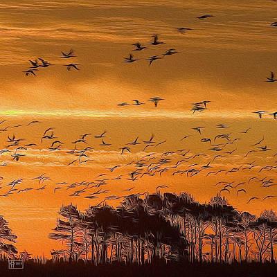 Digital Art - Fowl Deeds by Jim Pavelle