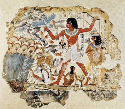 Fowling In The Marshes. Ca. 1400 Bc Art Print by Everett