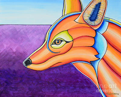 Art Print featuring the painting Fox 1 by Joseph J Stevens