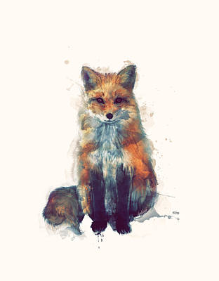 Foxes Painting - Fox by Amy Hamilton